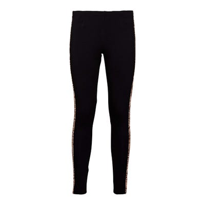 Damen-Caprileggings mit Zierband