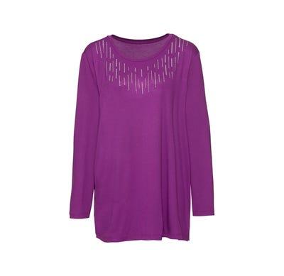 Damen-Shirt mit Glitter-Druck, große Größen