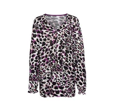 Damen-Shirt mit Leo-Muster, große Größen