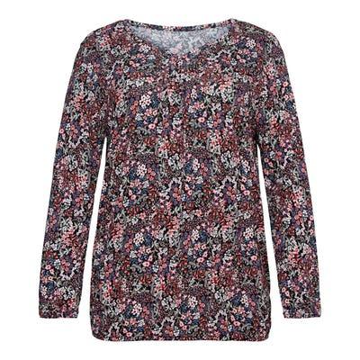 Damen-Shirt mit Blümchen-Muster, große Größen