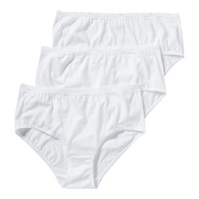 Damen-Taillenslip mit Spitzenbund, 3er Pack