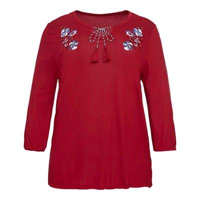 Damen-Shirt mit Blumen-Aufdruck, große Größen