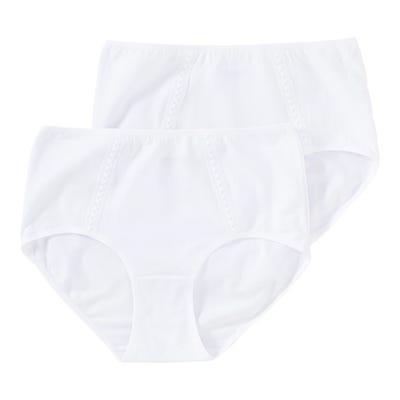 Damen-Taillenslip mit Spitzen-Verzierung, 2er Pack