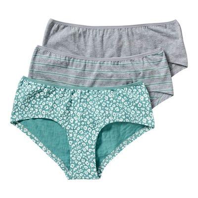 Damen-Panty mit Leo-Muster, 3er Pack