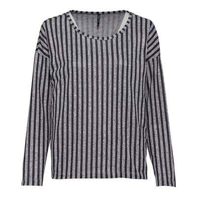 Damen-Sweatshirt mit Längsstreifen