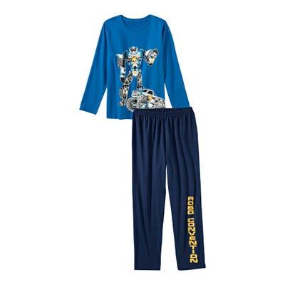 Jungen-Schlafanzug mit Roboter-Frontaufdruck, 2-teilig