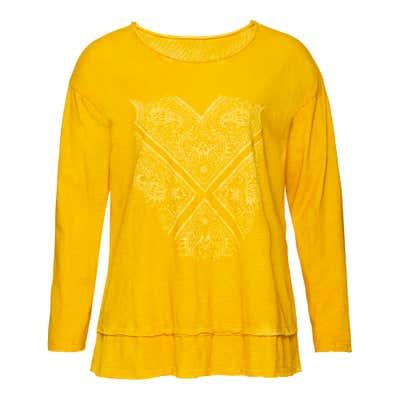 Damen-Shirt mit schicker Rüsche, große Größen