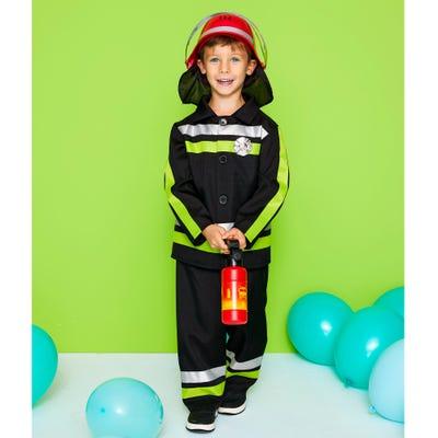 Kinder-Feuerwehrmann-Kostüm mit Reflektionsstreifen