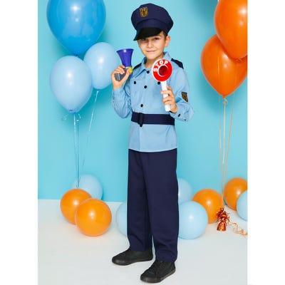 Kinder-Polizei-Kostüm mit Gürtel und Hut
