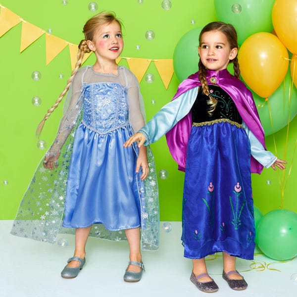 Kinder-Prinzessin-Kostüm mit Umhang