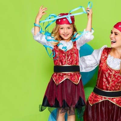 Kinder-Piratenprinzessin-Kostüm mit Kopftuch