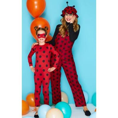 Marienkäfer-Kostüm mit passendem Hut für Erwachsene