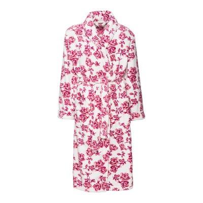 Damen-Bademantel mit Blumenmuster, mit Gürtel