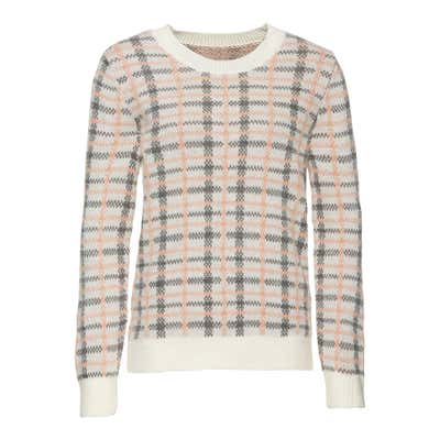 Damen-Pullover mit Jacquard-Karomuster