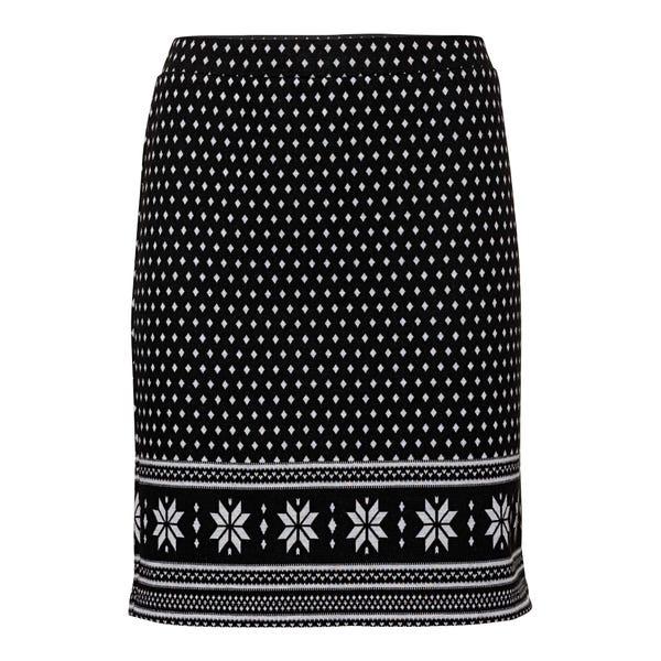 Damen-Rock mit Schneeflocken-Ornamenten