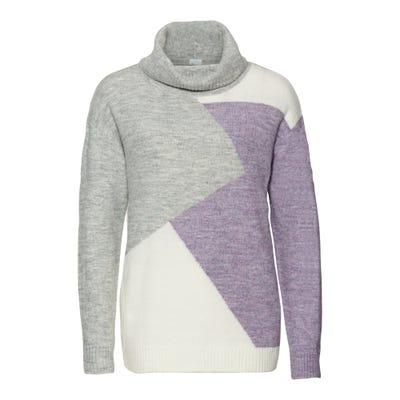 Damen-Pullover mit trendigem Farbdesign
