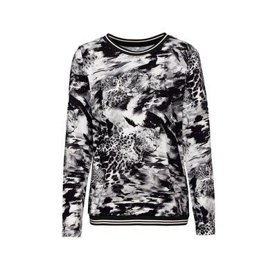Damen-Shirt mit Leoparden-Motiven