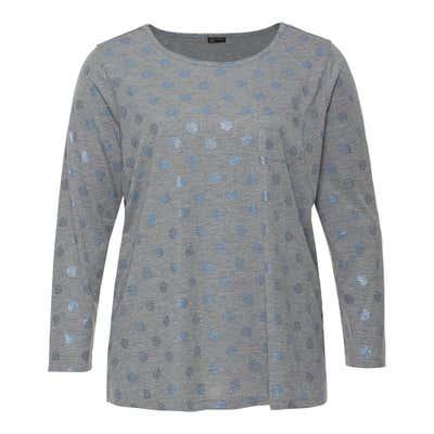 Damen-Shirt mit glänzenden Punkten, große Größen