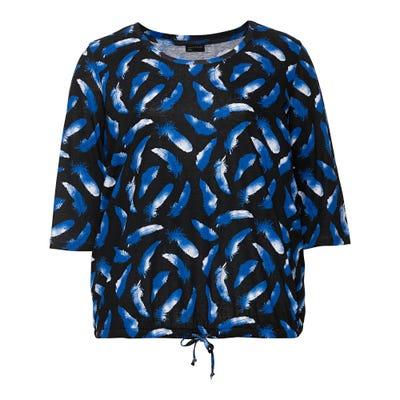 Damen-Shirt mit Feder-Muster, große Größen