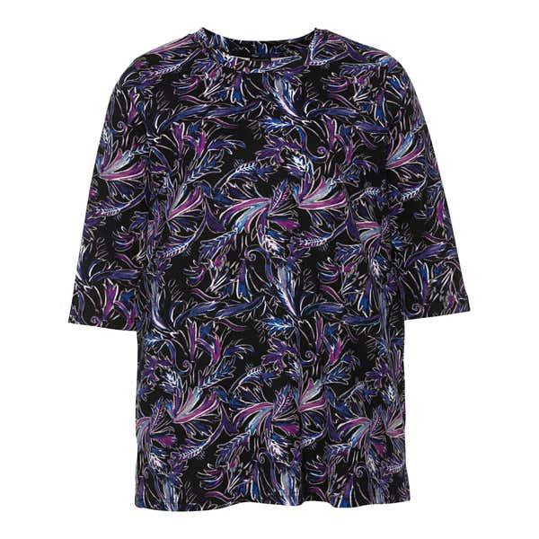 Damen-Shirt mit spannendem Muster, große Größen