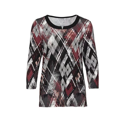 Damen-Shirt mit kreativem Karodesign