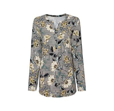 Damen-Shirt mit Blumendesign