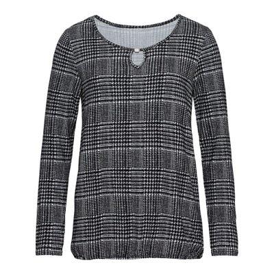 Damen-Shirt mit Schlüsselloch-Ausschnitt