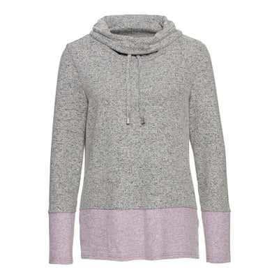 Damen-Sweatshirt mit modernen Bindebändern