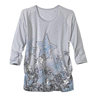 Damen-Shirt mit hübschen Glitzersteinen