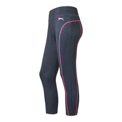 Damen-Fitnesshose mit kontrastfarbenen Nähten