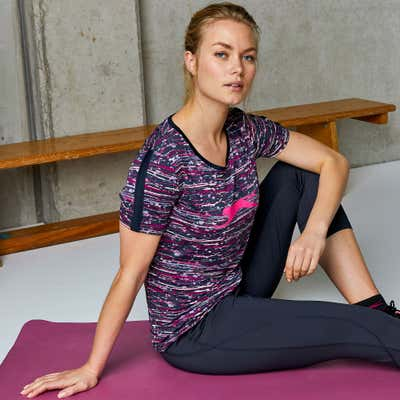 Damen-T-Shirt mit modernem Muster