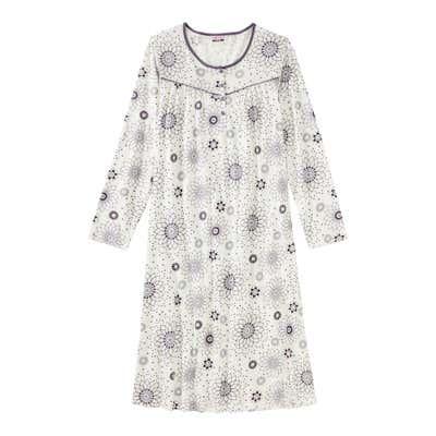 Damen-Nachthemd mit modischem Blumenmuster