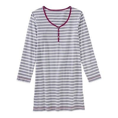 Damen-Nachthemd mit Ringelmuster