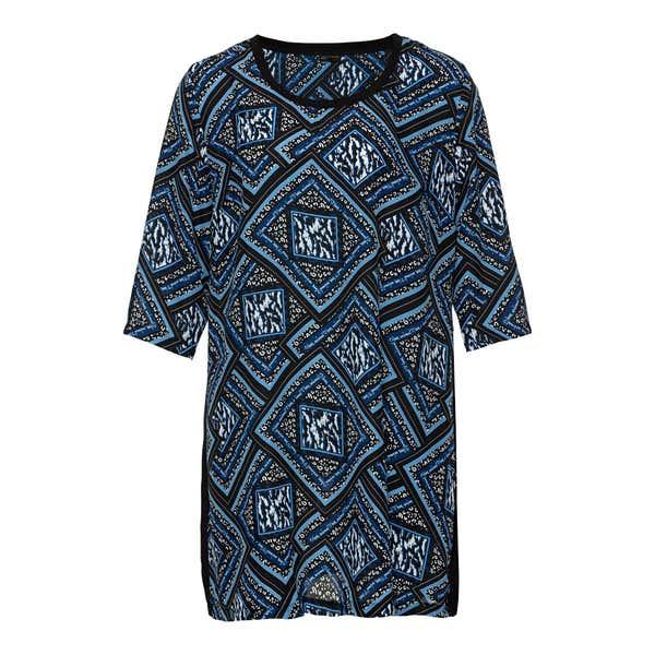 Damen-Bluse mit Karo-Design, große Größen