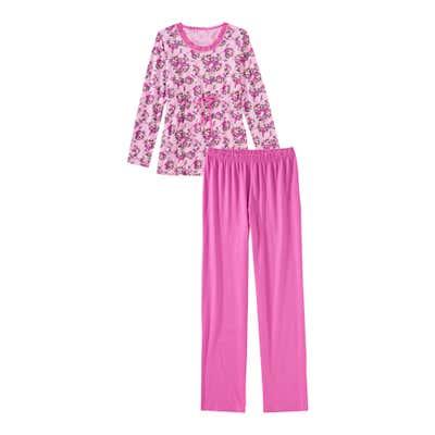 Damen-Schlafanzug mit Bindeband, 2-teilig