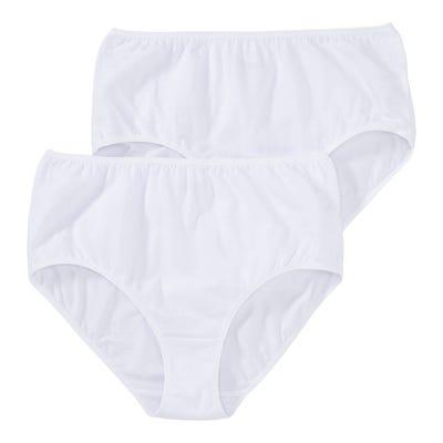 Damen-Taillenslip mit hohem Baumwoll-Anteil, 2er Pack