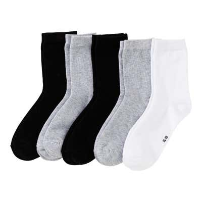 Damen-Socken in Melange-Optik, 5er Pack