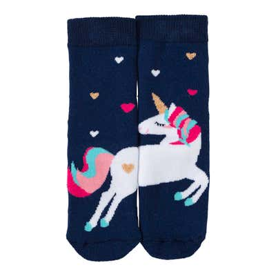 Mädchen-ABS-Socken mit Einhorn-Motiv