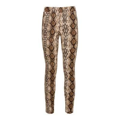 Damen-Leggings mit Schlangenhaut-Muster