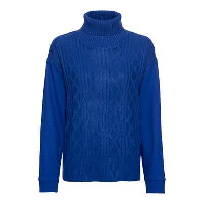 Damen-Sweatshirt mit Strick-Einsatz