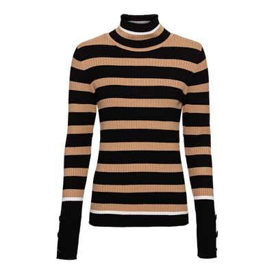 Damen-Pullover mit trendigem Ringelmuster