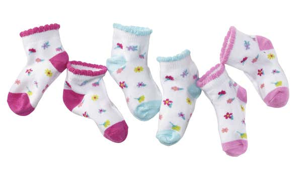 Baby-Mädchen-Sneaker-Socken, 3er Pack