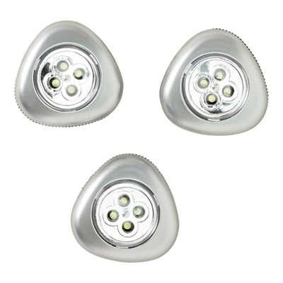 LED-Push-Licht, 3er Pack