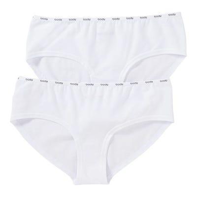 Damen-Panty mit Logo am Bund, 2er Pack