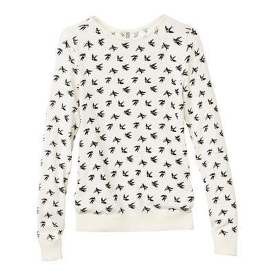 Damen-Sweatshirt mit trendigem U-Boot-Ausschnitt