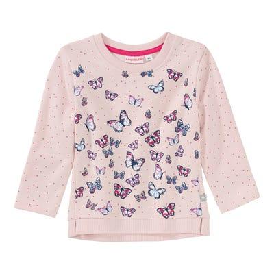 Baby-Mädchen-Sweatshirt mit bunten Schmetterlingen