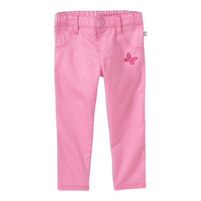 Baby-Mädchen-Jeans mit Schmetterlings-Stickerei