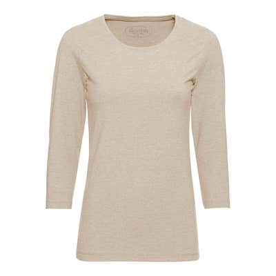 Damen-Shirt in Melange-Optik
