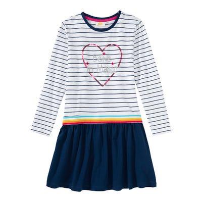 Mädchen-Kleid mit Pailletten-Herz