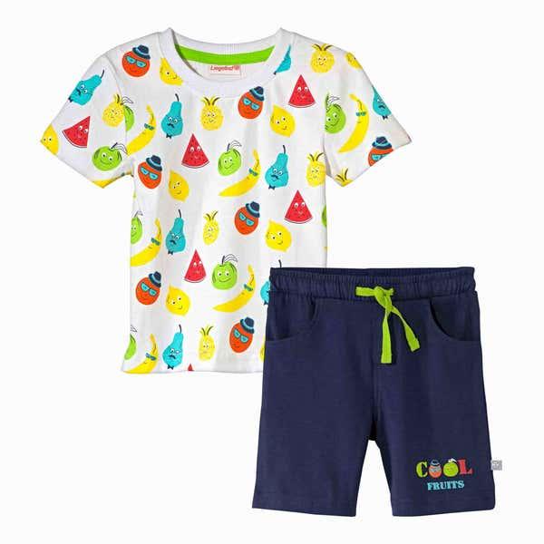 Baby-Jungen-Set mit fröhlichem Sommer-Motiv